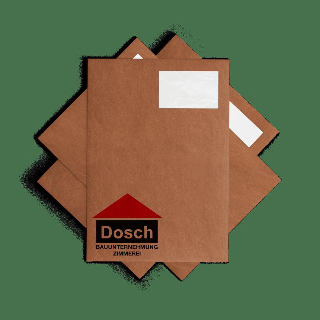 Brifhülle Bauunternehmung Dosch Marken Design Althammer Studios