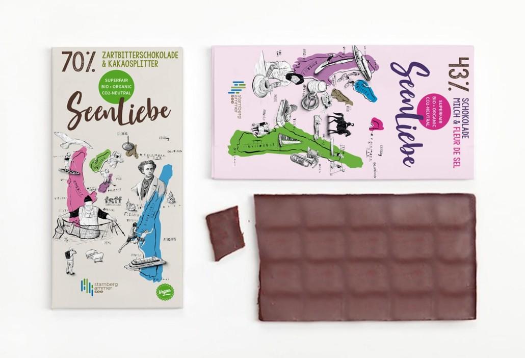 Seenliebe Schokolade Verpackungsdesign Althammer Studios
