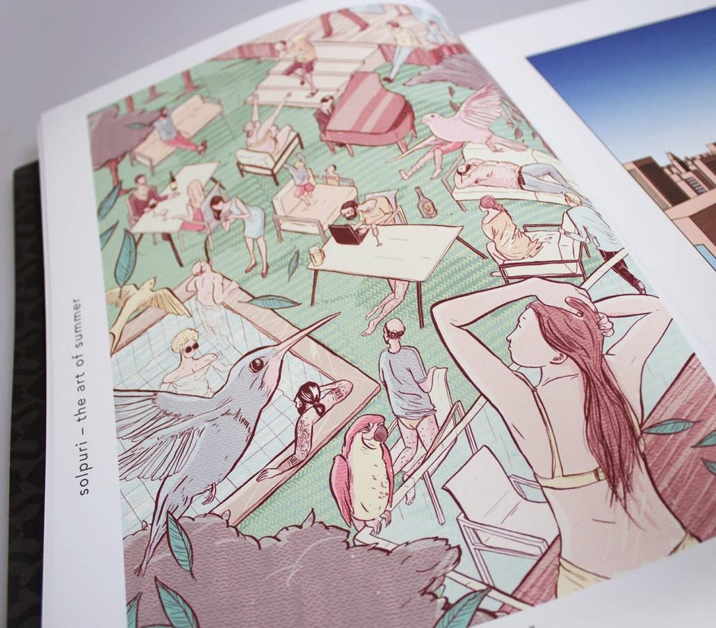 Illustration solpuri von Althammer studios Designkonzept