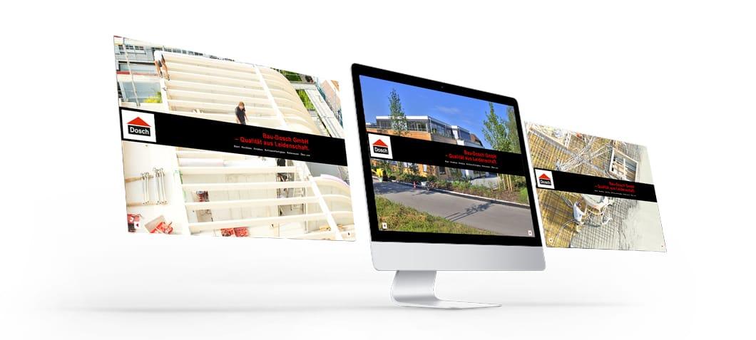 Weseiten Internet SEO Bauunternehmung Dosch Marken Design Althammer Studios